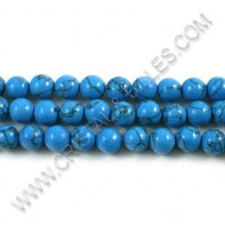 Turquoise bleu foncé 08mm...