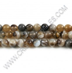 Agate Botswana brown, 08mm...