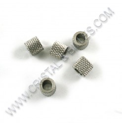 Beads 5 x 4.5mm, Stainless...