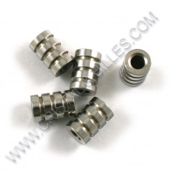 Beads 6 x 9mm, Stainless...