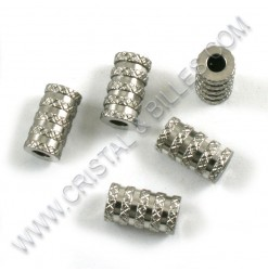 Beads 6 x 11mm, Stainless...