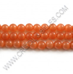 Cat eye Orange 08mm - Qty :...