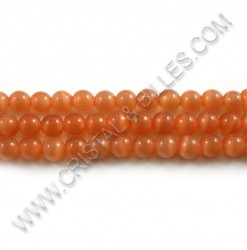 Cat eye Orange 06mm - Qty :...