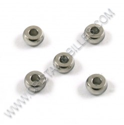 Bead 4x2mm, Stainless 304 -...