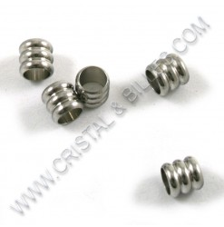 Bead 4x4mm, Stainless 304 -...