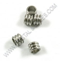 Bead 6x5mm, Stainless 304 -...