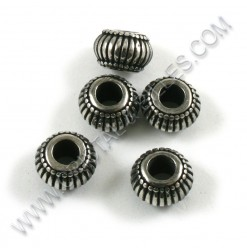 Bead 10x7mm, Stainless 304...