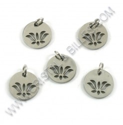 Charm lotus flower 12mm,...