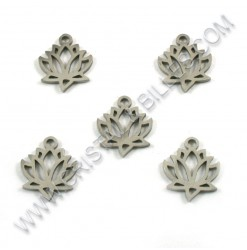 Charm lotus flower 12x14mm,...