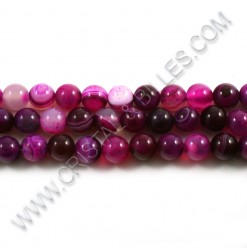 Agate Stripped 08mm Rose...