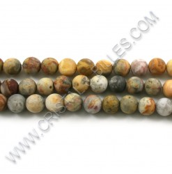 Agate crazy brun mât 08mm -...