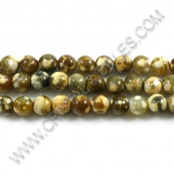 Agate fire Brun pâle 08mm -...