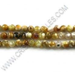 Agate fire Brun pâle 06mm -...