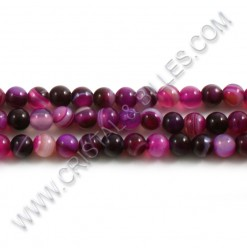 Agate Stripped 06mm Rose...