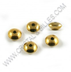 Beads 8x4mm, Stainless Gold...