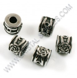 Beads 10x12mm, Stainless...