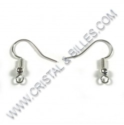 Earwire 18mm, Silver or Nickel