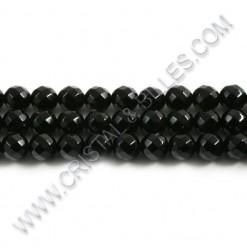 Onyx noire facetée 08mm -...