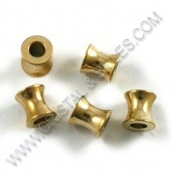 Beads 8x8mm, Stainless Gold...