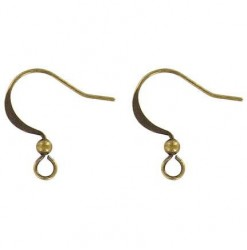 Earwire fishhook, flat with...