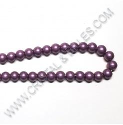 Perle verre Violet antique...