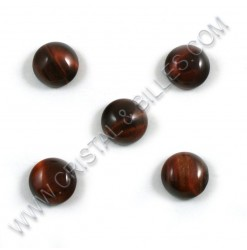 Cabochon 10mm Tiger eye red...