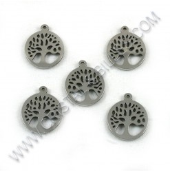 Charm tree of life 14mm, SS...