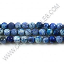 Agate crackle bleu, 08mm -...