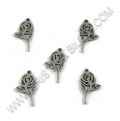 Charm Rose 16x09mm, SS 304...