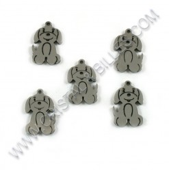 Charm dog 17x11mm, SS 304 -...