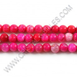 Agate pink, 08mm -...