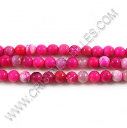 Agate pink, 06mm -...