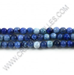 Agate crackle blue, 06mm -...