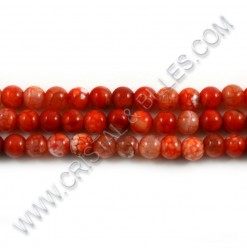Agate crackle orange, 06mm...
