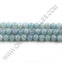 Aquamarine natural, 06mm -...
