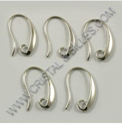 Crochet oreille 17mm, Nickel