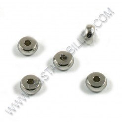 Beads 07x03mm, SS 304 - Qty...