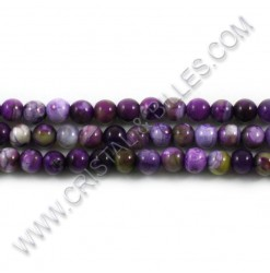 Agate crackle purple, 06mm...