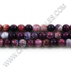 Agate crackle purple, 08mm...
