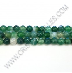 Agate stripped green, 06mm...