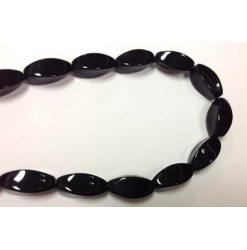Glass twisted oval Black...