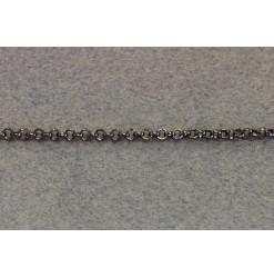 Chaine Rolo 4.0mm, Nickel noir