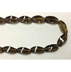 Glass twisted oval Grey...