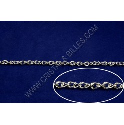 Chaine twist 5x4mm, Nickel