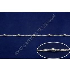 Chaine twist + billes 4mm,...