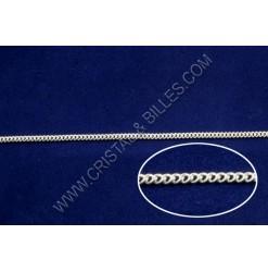 Chaine twist 2x1.5mm, Argent