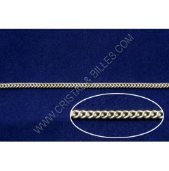 Chaine twist 2x1.5mm, Nickel