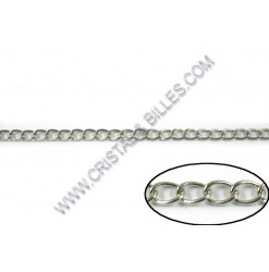 Chaine twist 10x8mm, Nickel