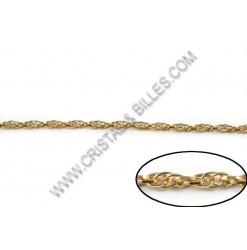 Chaine twist 4mm, Or