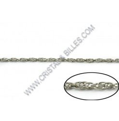Chaine twist 4mm, Nickel